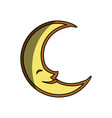 moon cute cartoon vector image
