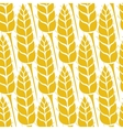 pattern with grains and wheat vector image