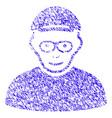 pensioner icon grunge watermark vector image