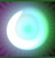 single light blue neon letter o of vector image