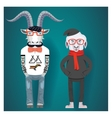 Symbols of Chinese New Year-goat and sheep in vector image