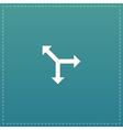 Three-way direction arrow vector image