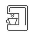 Coffee Maker Line Icon vector image