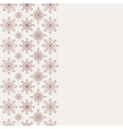 Winter background with seamless snowflakes pattern vector image