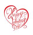 valentine calligraphy heart 380 vector image