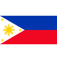 pilipino flag vector image vector image