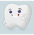 Winking tooth vector image