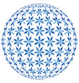 christmas ball with snowflakes globe under the vector image
