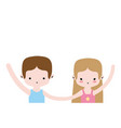 couple dancing and practice performance ballet vector image