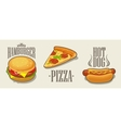 Hamburger pizza hotdog vector image
