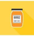 Honey bottle icon vector image