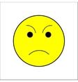 Smile sad sign on white background vector image