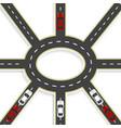 top view of 3d perspective road interchange of vector image