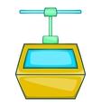 Ski lift gondola icon cartoon style vector image