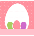 Pink dotted easter background with eggs vector image vector image