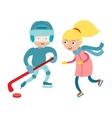 Sport children vector image