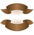 Brown ribbon vector image vector image