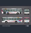 city bus colored realistic images vector image