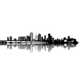Cityscape over ocean vector image vector image