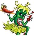 The pepper waitress vector image