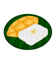 Delicious Sweet Sticky Rice with Ripe Mango vector image