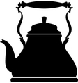 kettle silhouette vector image vector image