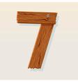 wooden type 7 vector image vector image
