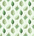abstract seamless pattern of green leaves vector image
