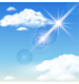Clouds and sunshine vector image vector image