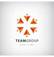 teamwork logo social net people together vector image