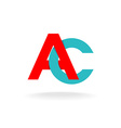 A and C letters logo vector image