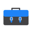 big black and blue schoolbag briefcase icon vector image