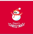 Cheerful Christmas card with Snowman vector image