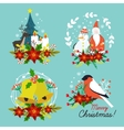 Christmas Hand Drawn Compositions vector image