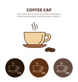 coffee cup and tea cup liner icon vector image