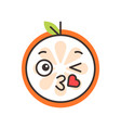 emoji - kiss orange smile isolated vector image