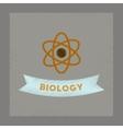 flat shading style icon biology molecule vector image