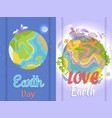 international save earth day agitation posters set vector image