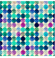seamless circle polka dots texture vector image