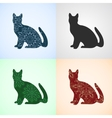 Set from Cat with Mandala Patterns vector image