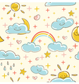 Sunny seamless pattern vector image