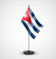 Table flag of Cuba vector image