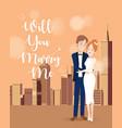 Couple character on wedding day vector image