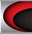 red shape curve on circle mesh vector image