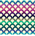 seamless retro scallop background vector image vector image