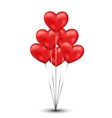 Shiny heart balloons background vector image vector image
