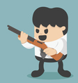 Businessman holding a gun vector image