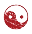 Red grunge Taoism logo vector image