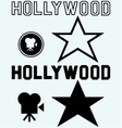 Hollywood symbol vector image vector image