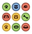 set of cat and dog icons in retro style vector image vector image